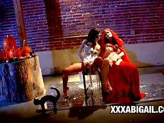 Pornstar beauties Alexis Amore and Nikki Rhodes swings