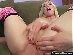 Tattooed Blonde Girl Anal Fucked