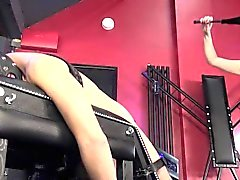 BDSM Domina analizes sub with fuckmachine