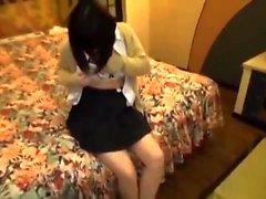 Adolescente japonês Em fodido Uniforme