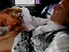 Redhead Bride and WeddingcarDriver
