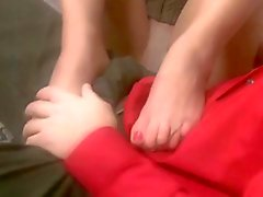 Blindfolded Pantyhose Foot Worship