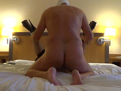 crossdresser with femalemask sandy-deluxe fucked in hotel