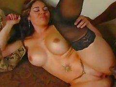 Hot Latin slut Olivia OLovely rodeos her sexy booty on a big black nob stick