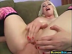 Tattooed Blonde Girl Anal Fucked