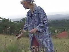 Grandma gets nasty old pussy pounded by young and old cocks