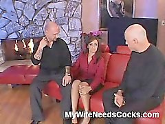Is there a hotter wife around than Claudia Valentine? She and her husband are all about sharing the love and they just love the chance to get sexually involved with other people. Claudia brings along her husband and lets him watch while she strips and fuc