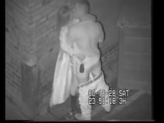 British Slut Caught Shagging On CCTV Behind The Dancing