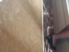 Ennakkoluuloton nailonien Sukkahousut jalkaa ja upottamalla jalkaa shoeplay