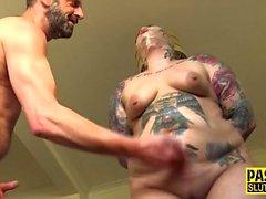 Fat tattooed submissive