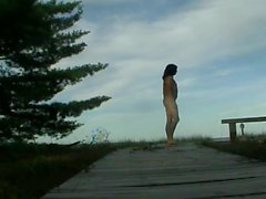 Nude hiking in the Apostle Islands by Mark Heffron