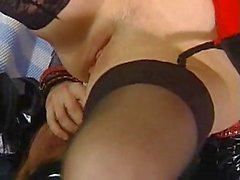 Latex action with pussy fisting & anal sex