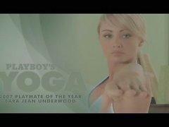 Hot blonde doing naked yoga