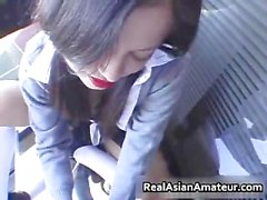 Another Asian schoolgirl pussy fingered part6