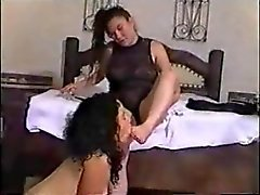 Brazilian girl totally dominated by mistress