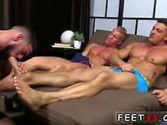 Hårigt skurk rövhål ben och gay foten onani Ricky Hypn