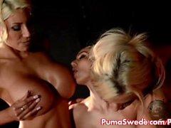 Euron bruden Puma Swede knullar Tiffanys och Elles in trekanter !
