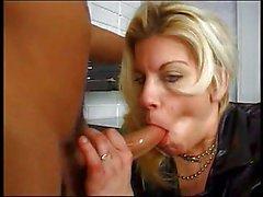 Horny hottie loves blowing a big hard cock