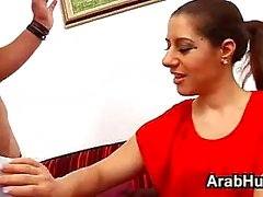 Arab In Stockings Fucks After Work