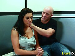 Tattooed stud enjoys making Raylene cum hard