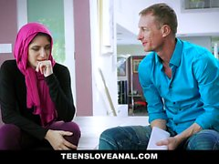 TeensLoveAnal - Religious Teen Anal Fucked in Hijab