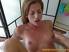 silvia practicing her massaging skills
