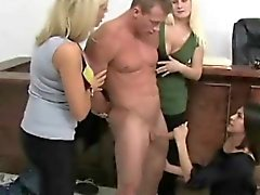 Tugging femdom babes facesit