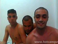 Brasilianska Webcam Trekant med Cum