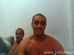 Webcam brésilienne Trio avec Cum
