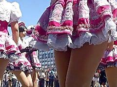 Karnevals Untern Rock geschaut