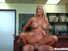 Bigtit Blonde Femme Diamond Foxxx Office Fuck