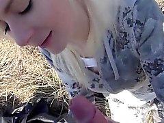 Pickedup amatörer i euro Cocksucking naturen