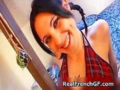 Sexy гот французского девочка трахал жестких part1
