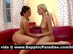 Debbie and Bianka blonde and brunette lesbos fingering and licking pussy and having lesbo sex