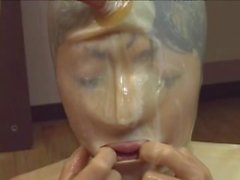 Radiant doll in latex getting throbbed missionary