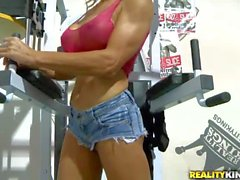 Buxom MILF Crysstal gets picked up at the gym