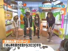 japanese feet massage(TV news)