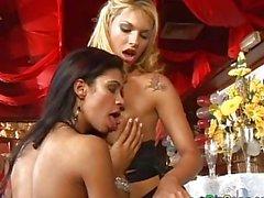brazilian lesbian orgy in nightclub