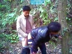 Gay aasialaiset vittu metsässä