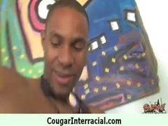 Wild Amateur Cougar eats up Black Guy in bed 8