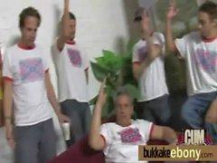 Bukkake ebony babe group fucking 2