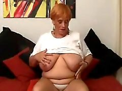 Fat Granny Masturbating With Toys