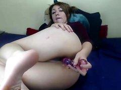 Sasha Grey solo de vulva brinca vê-la esfregar sua fenda quente