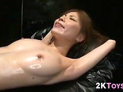 Oiled Up Asian Getting Toyed With