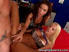 Donna Doll And Victoria Valentina Playing With One Dick