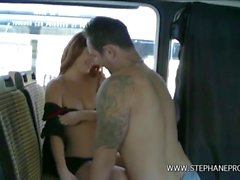 Dixie Valens gets fucked like a slut in a bus