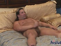 Skinny Jenna pleasures a stiff dick