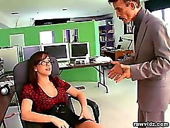Busty kinky secretary doing everything she can to please