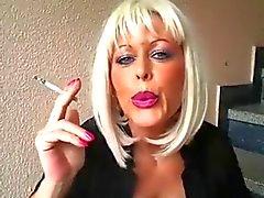 Blonde Milf Smoking