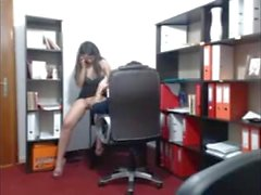 Hot Office Babe Flirts W-Boss